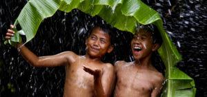 Sometimes when it rains it shines
