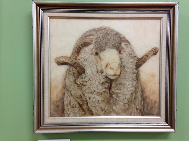 Merino Sheep in Wool Art