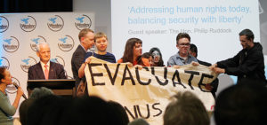 Protesters Interrupt Ruddock at Gordon Moyes Lecture