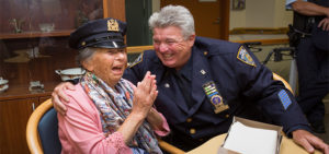 Meeting a NYPD cop, a dream come true for Berenice