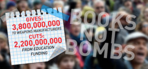 CSU members join 'Books not bombs' protest