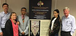 Huwaida Arraf meets with Uniting Church members