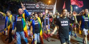 Uniting Network members declare Love Wins at Mardi Gras