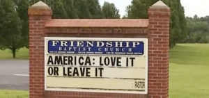 Church sign leads to walkout