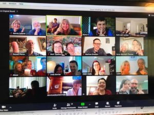 How can we welcome newcomers while gathering online during COVID-19?