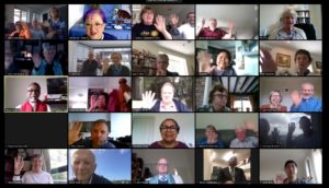 Farewelling the minister, via Zoom