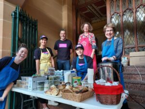 High profile volunteer lends a hand for vital food services